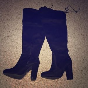 Charlotte Russe Black thigh high boots